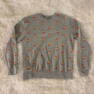 Mens French Fry Crewneck Sweatshirt